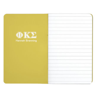 Phi Kappa Sigma White and Gold Letters Journals