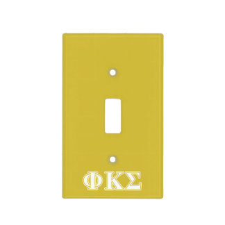 Phi Kappa Sigma White and Gold Letters Switch Plate Cover