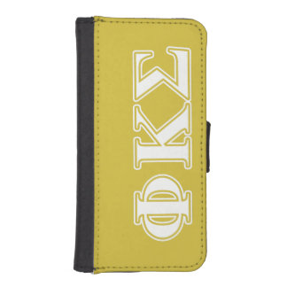 Phi Kappa Sigma White and Gold Letters Phone Wallet Cases