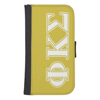 Phi Kappa Sigma White and Gold Letters Phone Wallet Case