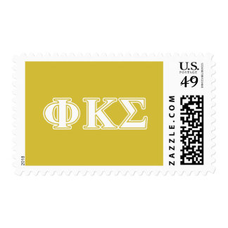 Phi Kappa Sigma White and Gold Letters Postage Stamp