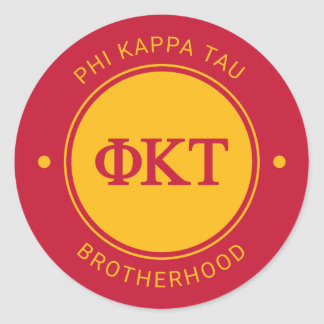 Phi Kappa Tau | Badge Classic Round Sticker