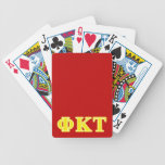 Phi Kappa Tau Yellow Letters Bicycle Playing Cards