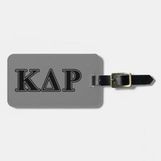 Phi Kappa Theta Black Letters Bag Tag