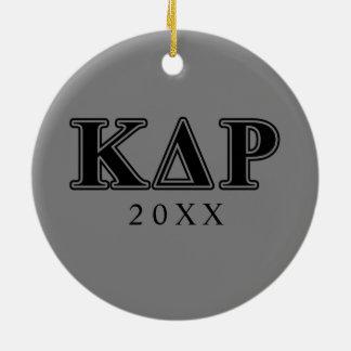 Phi Kappa Theta Black Letters Ceramic Ornament