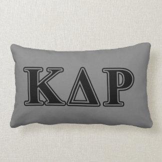 Phi Kappa Theta Black Letters Lumbar Pillow