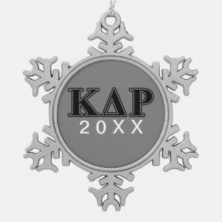 Phi Kappa Theta Black Letters Snowflake Pewter Christmas Ornament