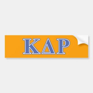 Phi Kappa Theta Blue Letters Bumper Sticker