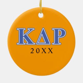 Phi Kappa Theta Blue Letters Ceramic Ornament