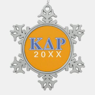 Phi Kappa Theta Blue Letters Snowflake Pewter Christmas Ornament
