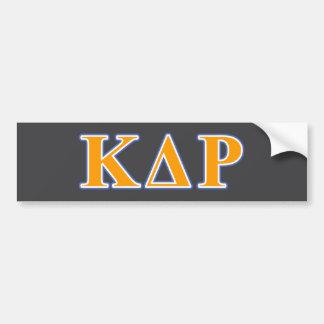 Phi Kappa Theta Orange and Blue Letters Bumper Sticker