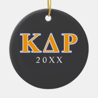 Phi Kappa Theta Orange and Blue Letters Ceramic Ornament