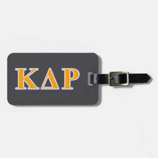 Phi Kappa Theta Orange and Blue Letters Luggage Tag