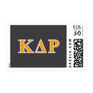Phi Kappa Theta Orange and Blue Letters Postage
