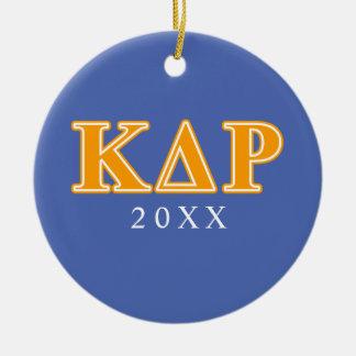 Phi Kappa Theta Orange Letters Ceramic Ornament