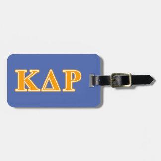 Phi Kappa Theta Orange Letters Luggage Tag