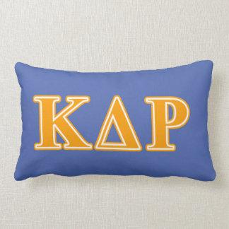 Phi Kappa Theta Orange Letters Lumbar Pillow