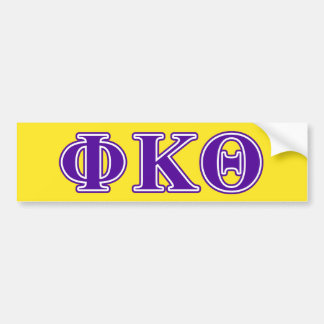 Phi Kappa Theta Purple Letters Car Bumper Sticker