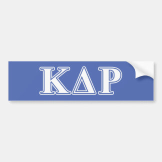 Phi Kappa Theta White and Blue Letters Bumper Sticker