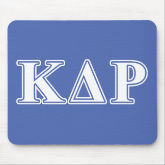 Phi Kappa Theta White and Blue Letters Mouse Pads