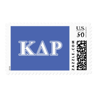 Phi Kappa Theta White and Blue Letters Postage