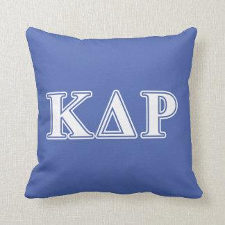 Phi Kappa Theta White and Blue Letters Throw Pillow