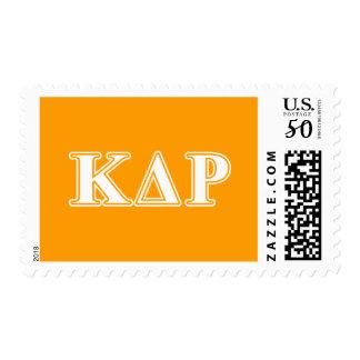 Phi Kappa Theta White and Orange Letters Postage