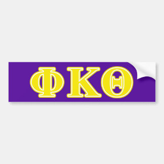 Phi Kappa Theta Yellow Letters Bumper Sticker