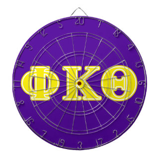 Phi Kappa Theta Yellow Letters Dart Board