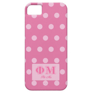 Phi Mu Pink Letters iPhone SE/5/5s Case