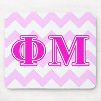 Phi Mu Pink/Purple Letters Mouse Pads
