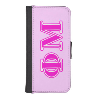 Phi Mu Pink/Purple Letters Wallet Phone Case For iPhone SE/5/5s