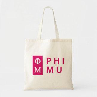 Phi Mu Stacked Tote Bag