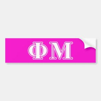 Phi Mu White Letters Bumper Sticker