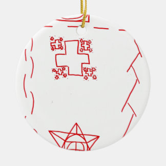 Phi See Thru Fractal Trees Ceramic Ornament