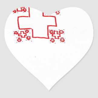 Phi See Thru Fractal Trees Heart Sticker