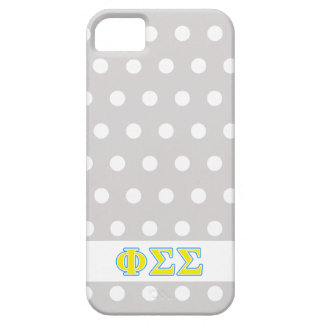 Phi Sigma Sigma Blue and Yellow Letters iPhone 5/5S Cover