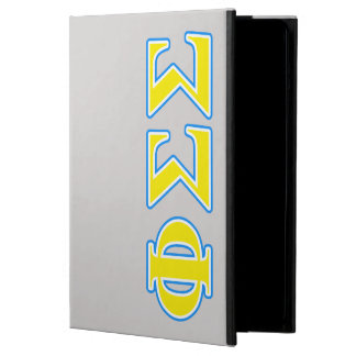 Phi Sigma Sigma Blue and Yellow Letters iPad Air Cover