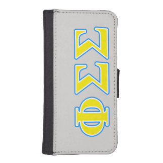 Phi Sigma Sigma Blue and Yellow Letters iPhone 5 Wallet