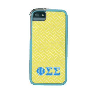 Phi Sigma Sigma Blue Letters Cover For iPhone 5