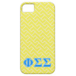 Phi Sigma Sigma Blue Letters iPhone 5 Cover