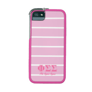 Phi Sigma Sigma Pink Letters Cover For iPhone 5/5S