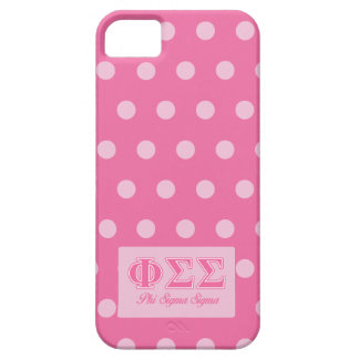 Phi Sigma Sigma Pink Letters iPhone 5 Case