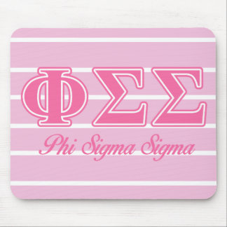 Phi Sigma Sigma Pink Letters Mouse Pad