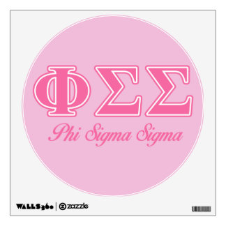Phi Sigma Sigma Pink Letters Wall Sticker