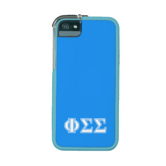 Phi Sigma Sigma White and Blue Letters iPhone 5/5S Cases