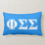 Phi Sigma Sigma White and Blue Letters Pillows