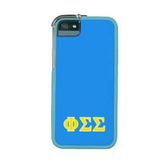 Phi Sigma Sigma Yellow Letters Cover For iPhone 5/5S