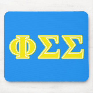 Phi Sigma Sigma Yellow Letters Mouse Pad