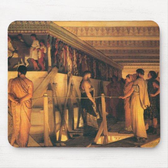 Phidias Showing The Frieze Of The Parthenon Mouse Pad